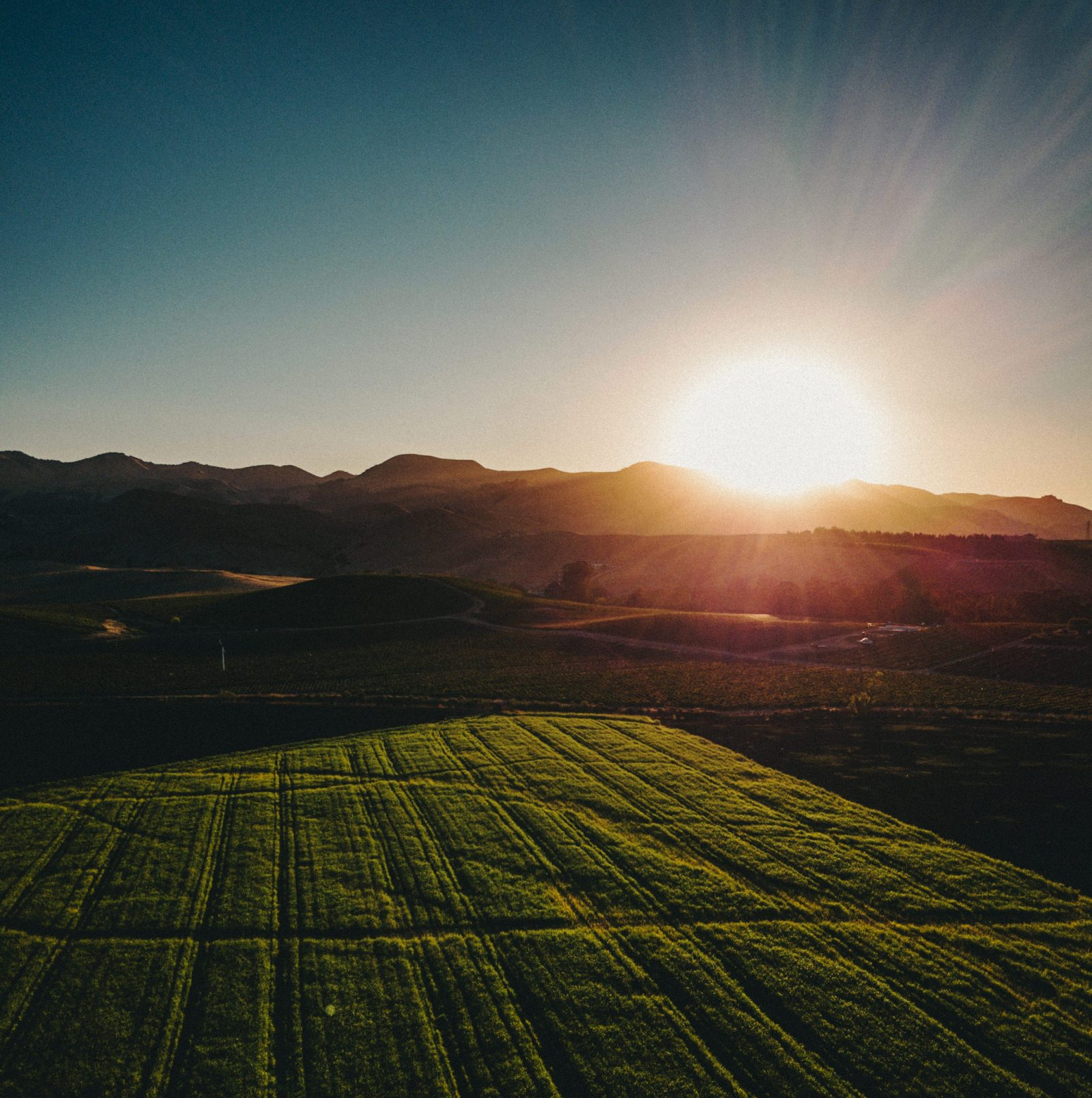 Argentinien Landschaft Sonnenuntergang